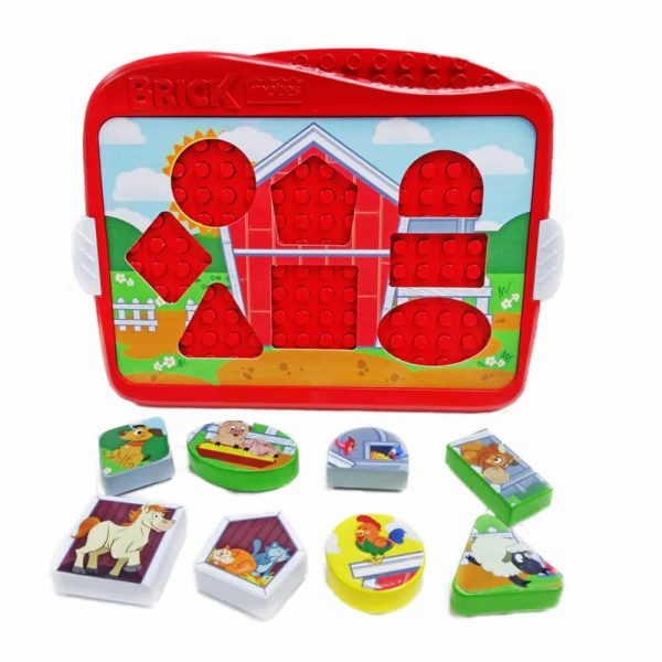 Farm - Brick Mates - Lock and Learn - Disassembled Image - 3d Puzzle Learning Activity