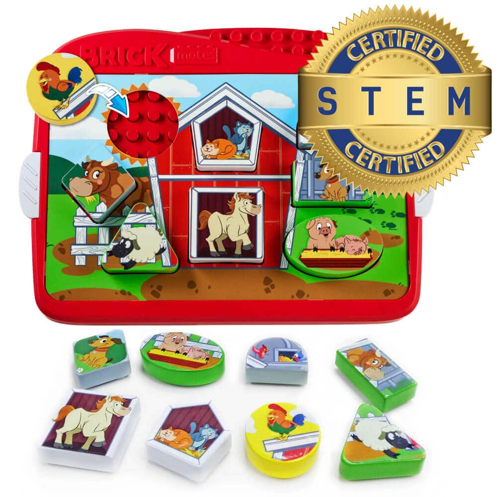 Brick Mates – Lock and Learn – Farm – Stem Toy For Kids 3+