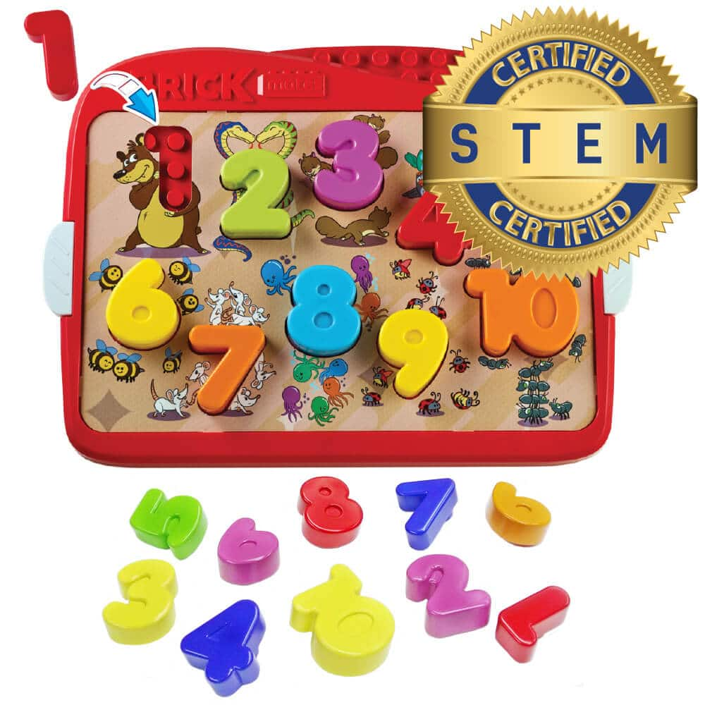 Brick Mates – Lock and Learn – Numbers – Stem Toy For Kids 3+