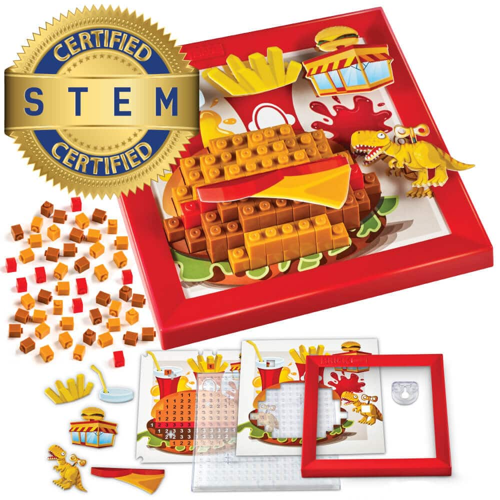 Brick Mates – Stack By Numbers – Fast Food – STEM Toy For Kids 5+