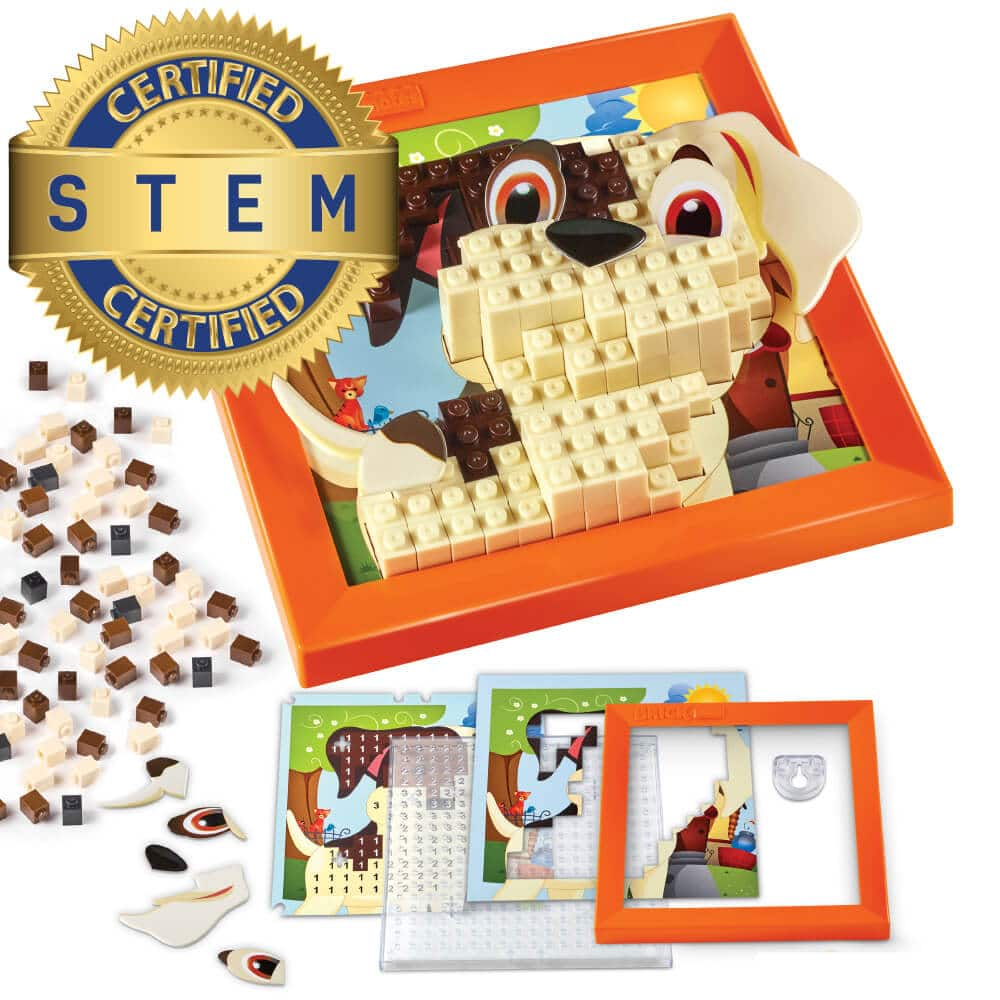 Brick Mates – Stack By Numbers – Puppy – STEM Toy For Kids 5+