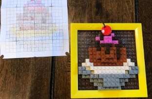 Create Your Own Designs - Brick Mates - Cupcake