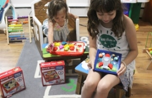 Feature Your Child Brick Mates Stack By Numbers and Lock and Learn
